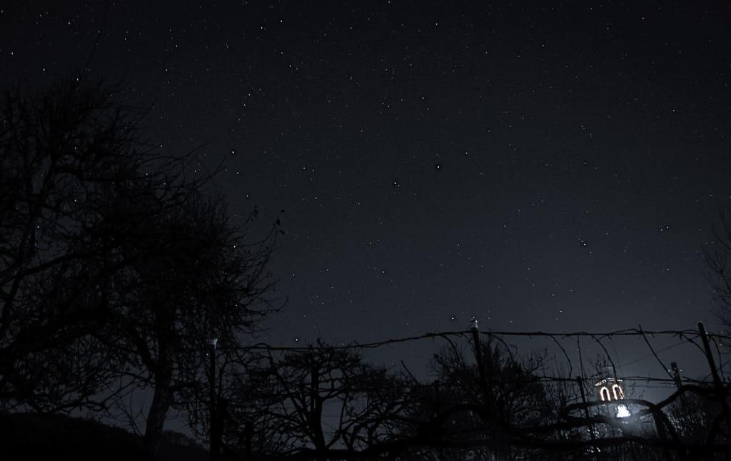 cielo stellato di sera isola del giglio