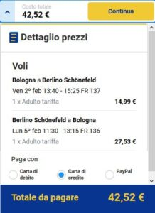 Bologna Berlino black friday ryanair