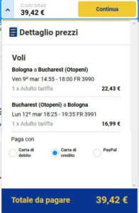 Bologna Bucharest black friday ryanair
