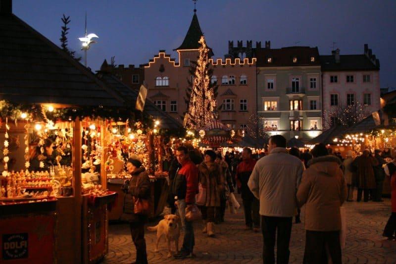 notte mercatino di natale di bolzano