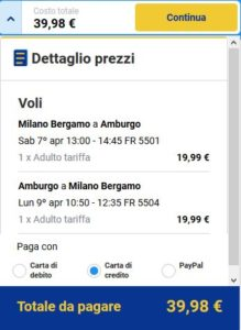 Milano Amburgo Black Friday Ryanair