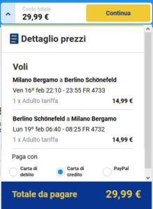 Milano Berlino Black Friday Ryanair