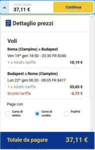 Roma Budapest Ryanair