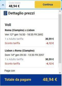Roma Lisbona Ryanair
