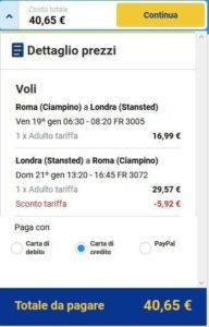 Roma Londra Ryanair