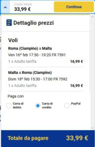 Roma Malta black friday ryanair