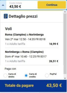 Roma Norimberga black friday ryanair