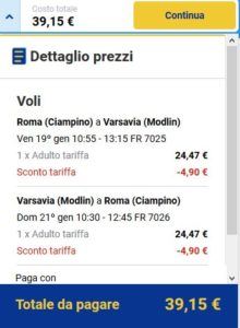 Roma Varsavia Black Friday Ryanair day 5