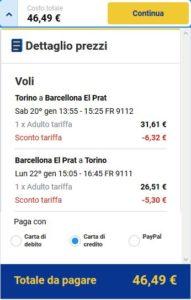 Torino Barcellona Ryanair
