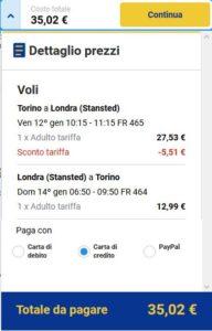 Torino Londra Ryanair