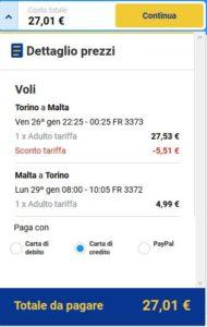 Torino Malta Ryanair