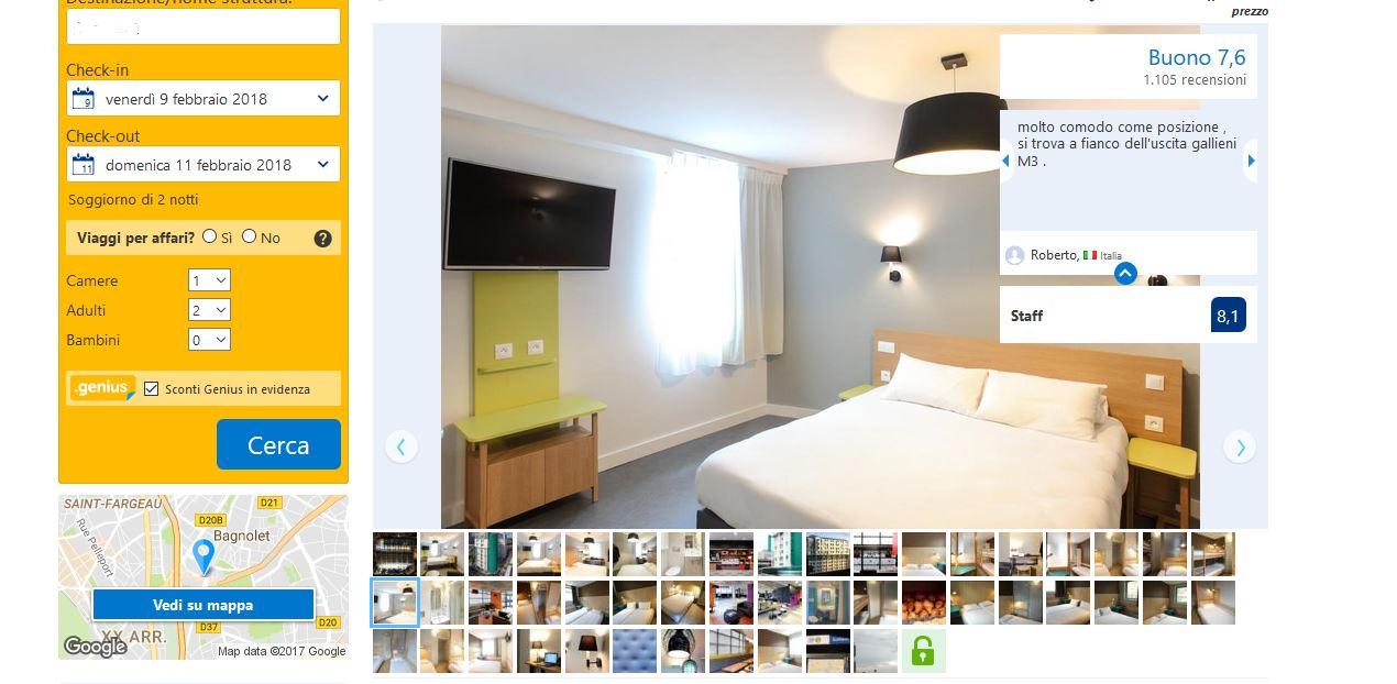 foto albergo parigi
