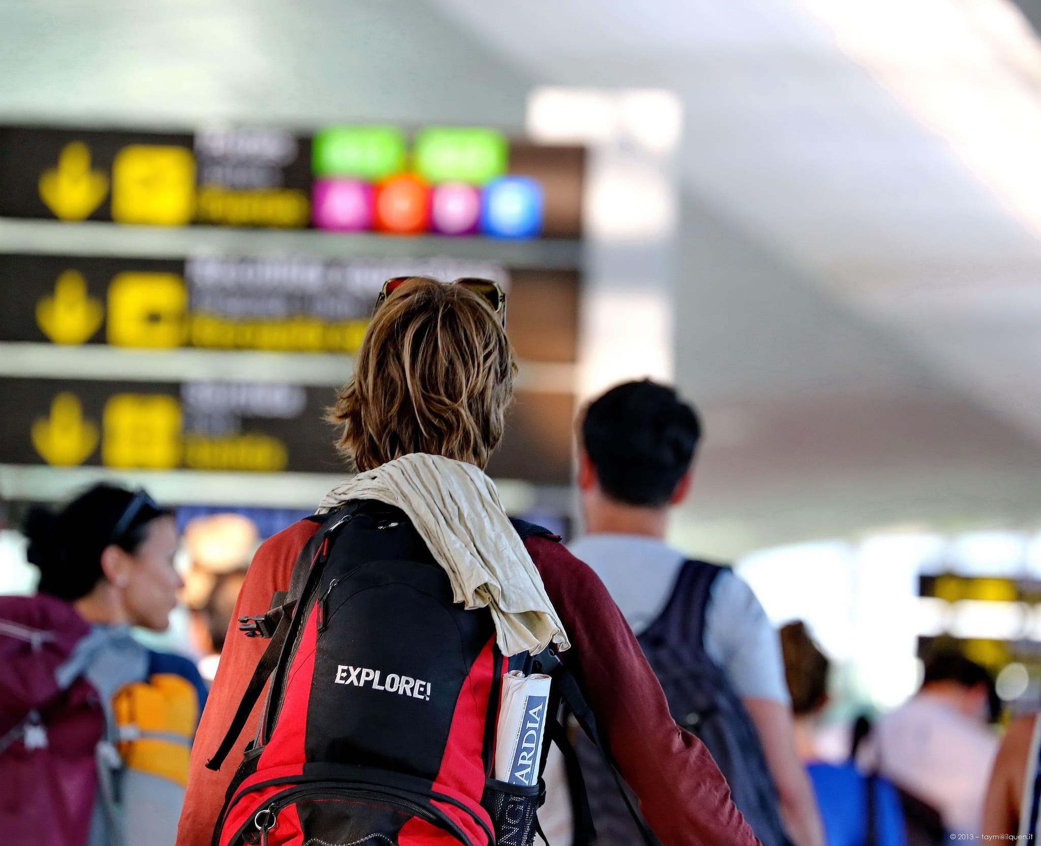partenza dall'aeroporto di Sardegna