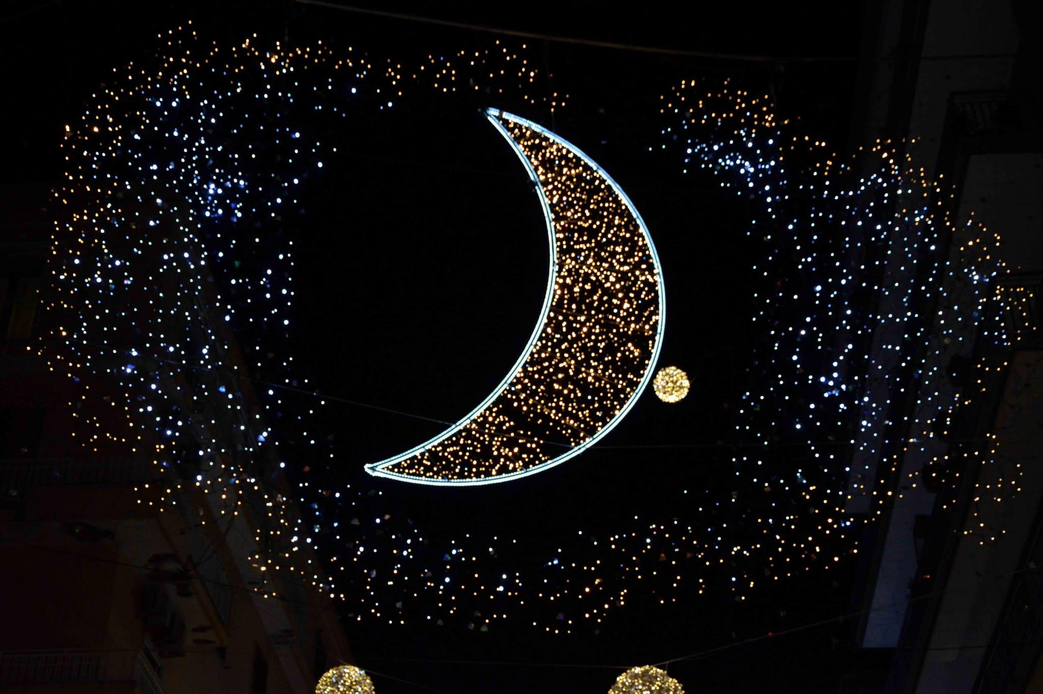 evento delle luci a Salerno