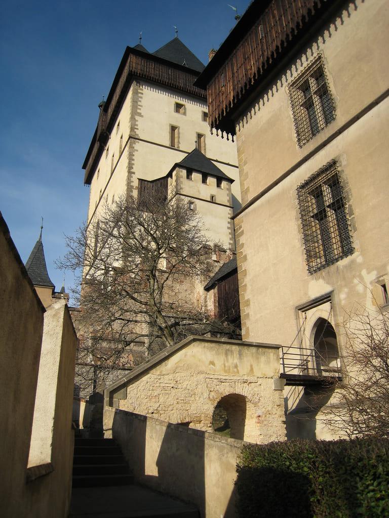 vicolo del castello di Karlstejn