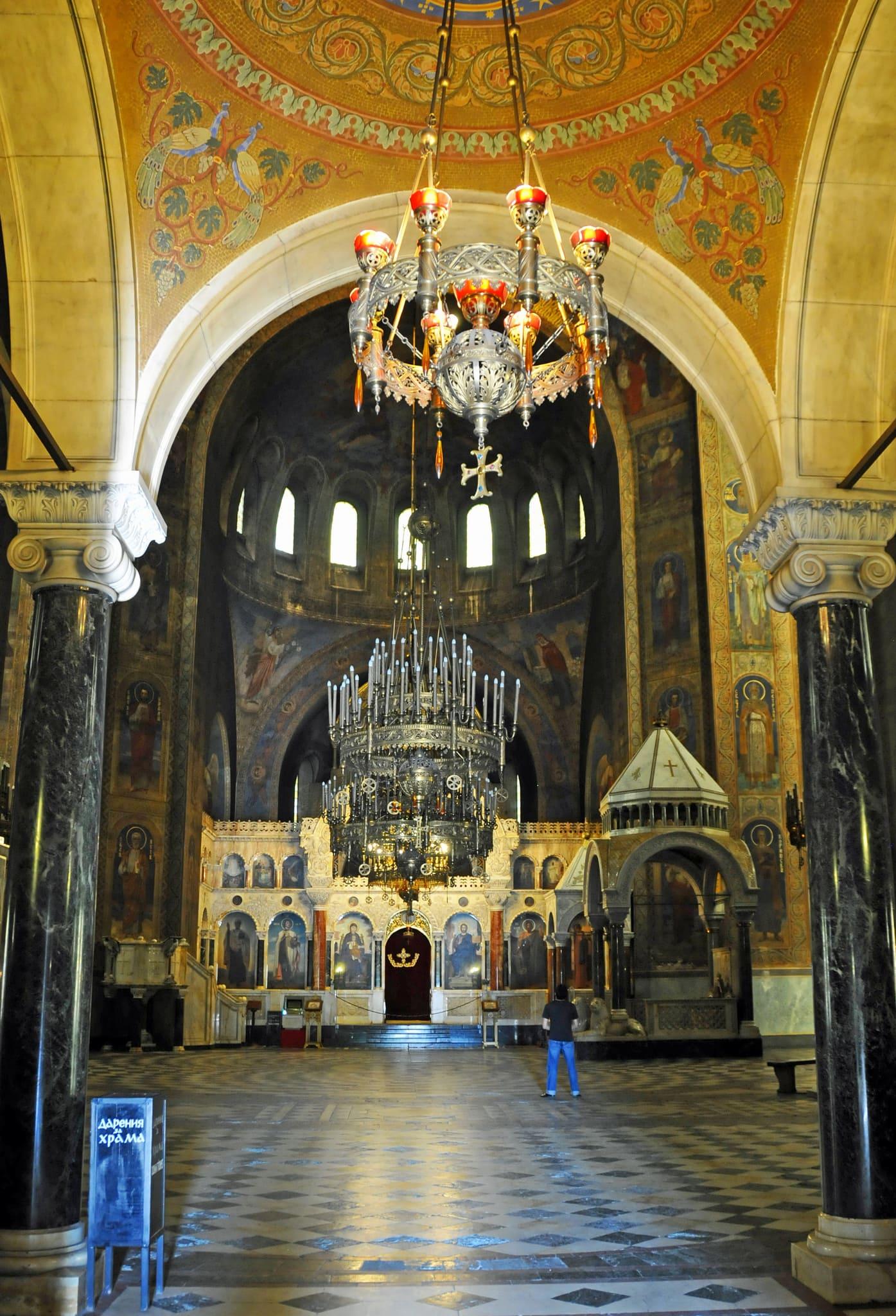 interni cattedrale di Sofia