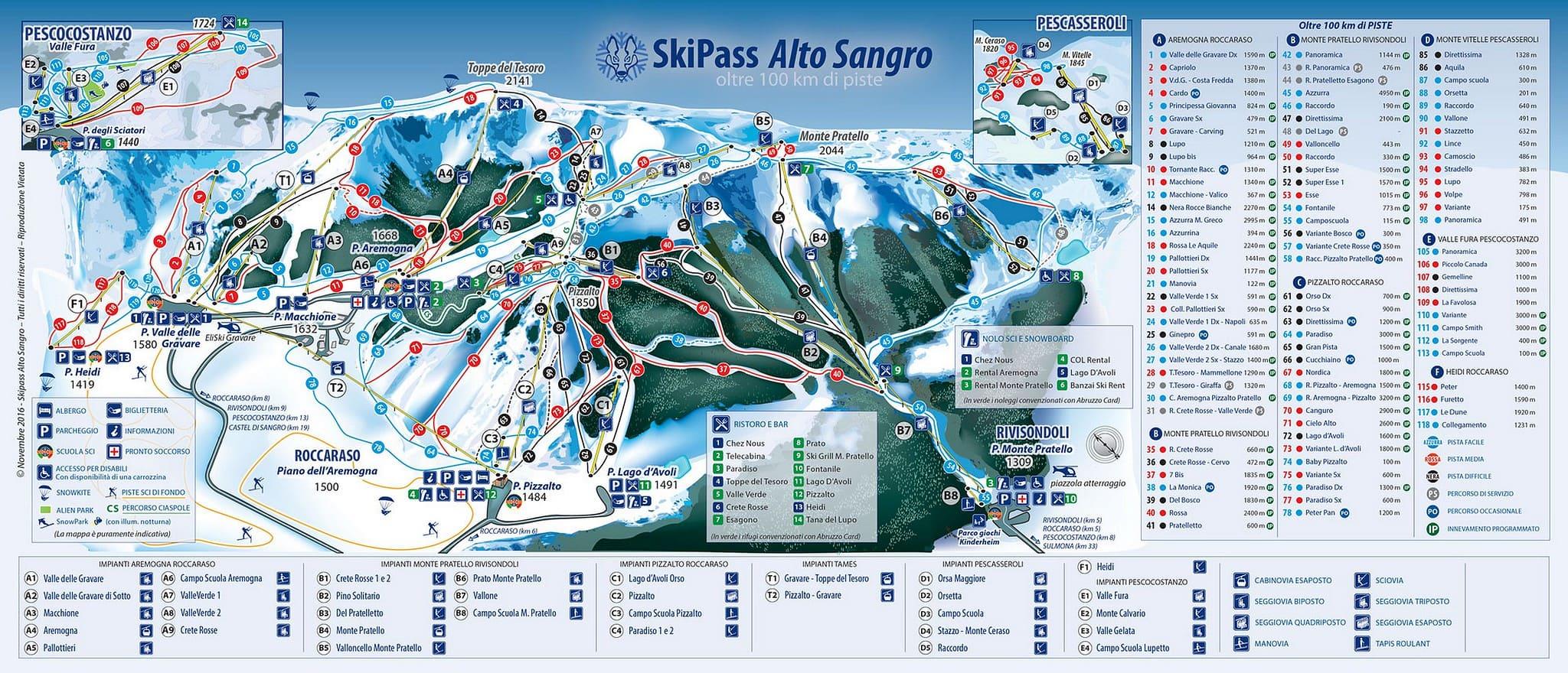 piste da scii nei dintorni dell'albergo del sole